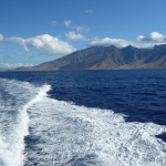 From the dive boat looking at Maui West