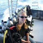 Emily on the Lanai dive trip