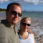 Arrival on the beach in Maui