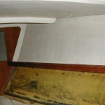 Starboard side of v-berth upon starting