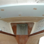 Second piece of foam on v-berth ceiling