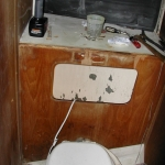 The old structure behind the toilet in the head