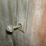 Original undersized bolts for the main shroud chainplates