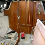 The cabin with the bulkhead removed