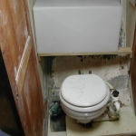 Sizing the toilet and holding tank