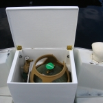 The finished box with tank and regulator