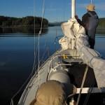 Leaving a calm anchorage