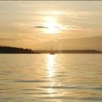 Sunrise leaving anchorage