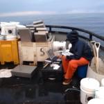Scientist working on deck