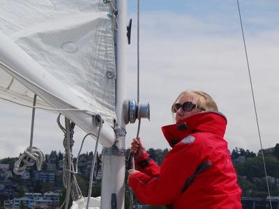 Emily Raising Sail