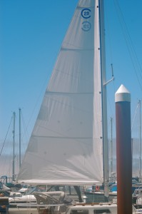 Trying out the new main sail