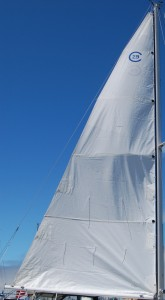 The raising for the new mainsail, take 1