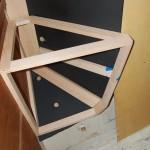 Test fitting the port cabinet frame