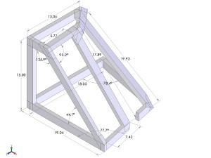 Port cabinet frame CAD drawing