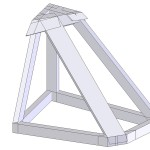 Starboard cabinet frame CAD drawing