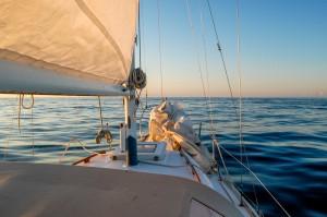 Under sail in the Pacific Ocean off Washington's coast